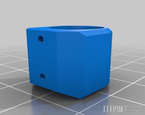 tilt&pan相机支架 3D模型  图5