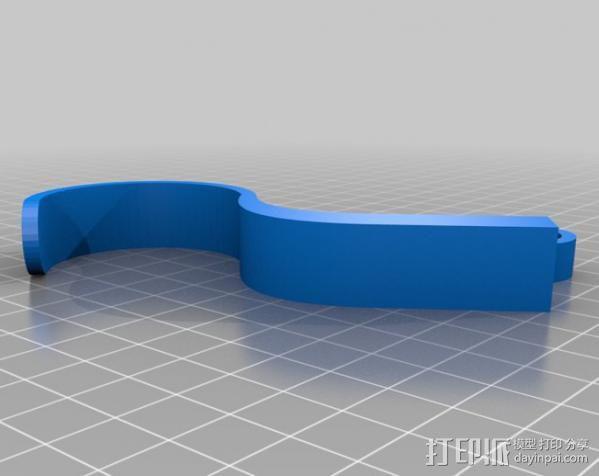 福特Fusion汽车 钱包挂钩 3D模型  图1