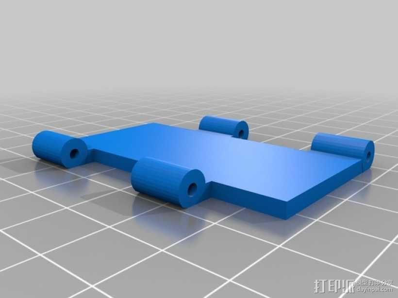 开关按钮 外壳 3D模型  图4