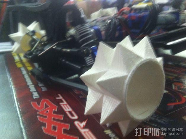 遥控赛车 雪地防滑轮 3D模型  图2