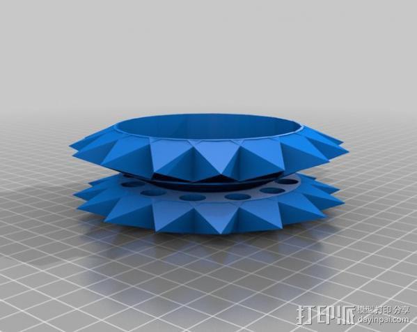 遥控赛车 雪地防滑轮 3D模型  图3