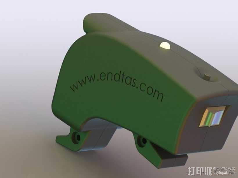 自行车 LED太阳能车灯 3D模型  图5