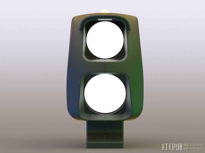 自行车 LED太阳能车灯 3D模型  图4