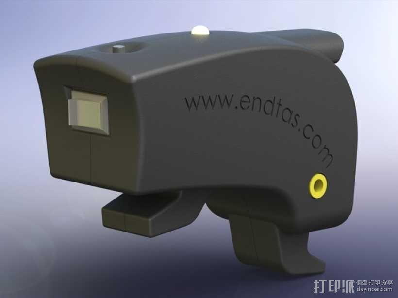 自行车 LED太阳能车灯 3D模型  图6
