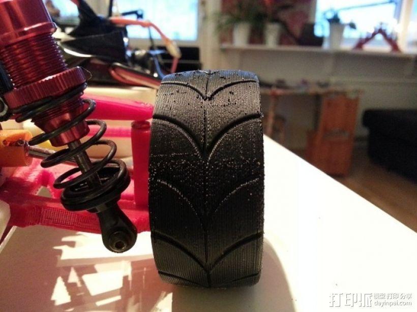 1:10车轮轮胎 3D模型  图2