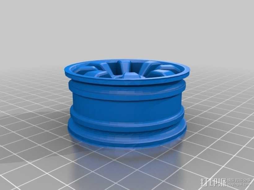 1:10车轮轮胎 3D模型  图4