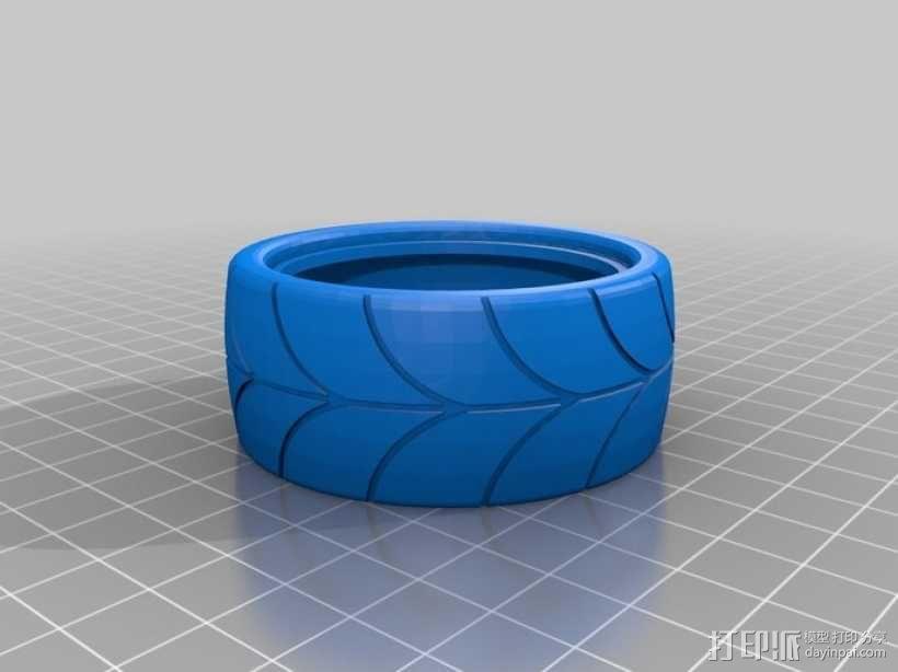 1:10车轮轮胎 3D模型  图5