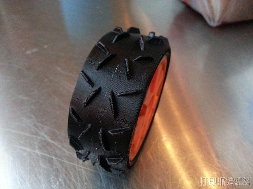 1:10车轮轮胎 3D模型  图3