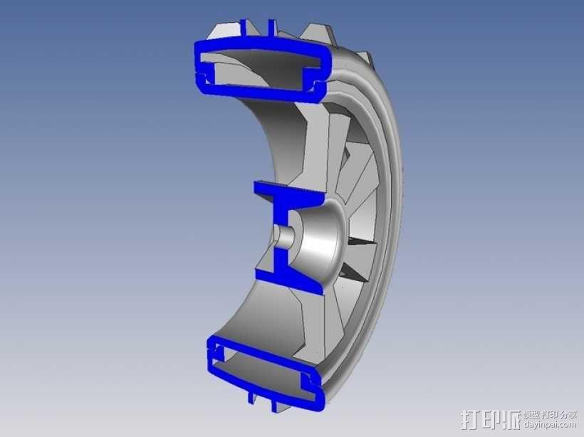1:10车轮轮胎 3D模型  图6