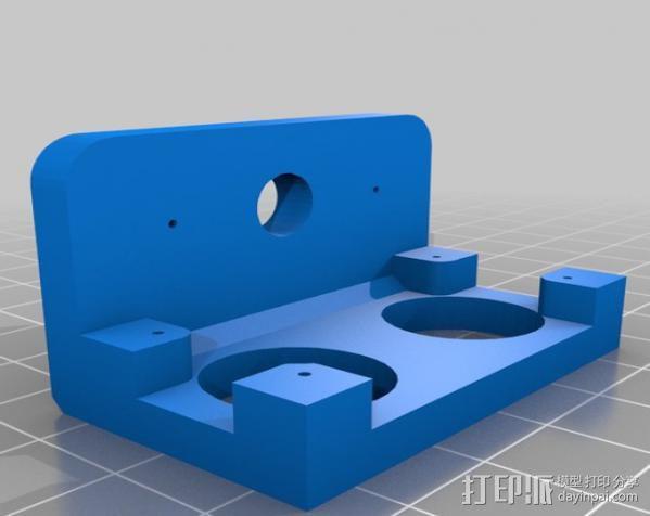 超声传感器 伺服支架 3D模型  图1