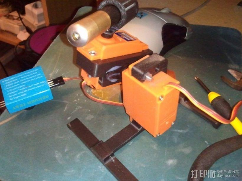 桌面式激光炮塔 3D模型  图1