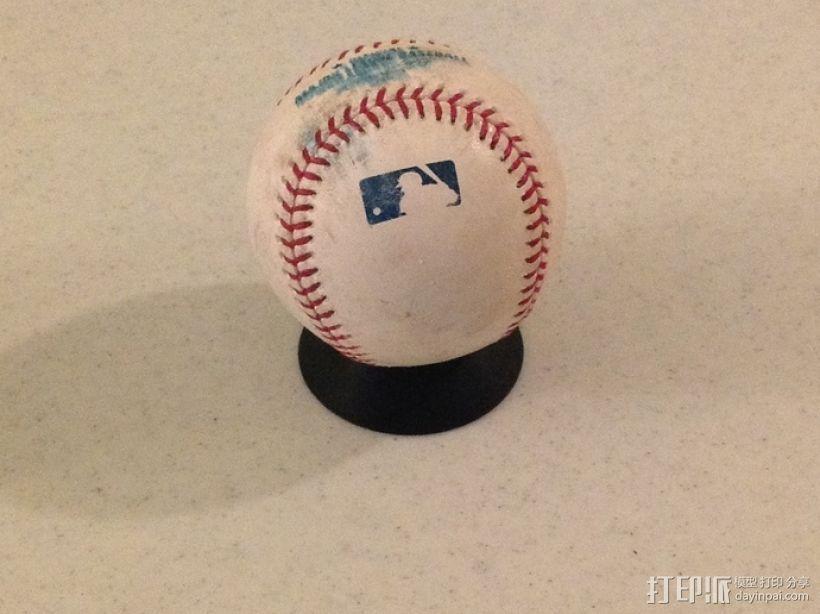 棒球展示架 3D模型  图1
