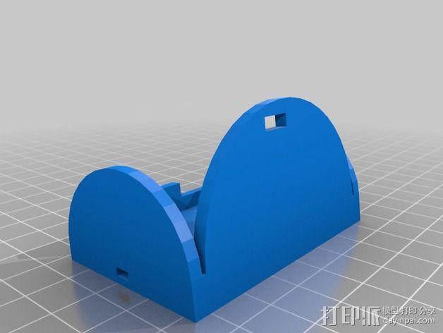 gopro hero 2相机支架 3D模型  图1