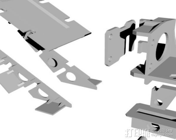 FPVRaptor航拍飞机FPV支架 3D模型  图3