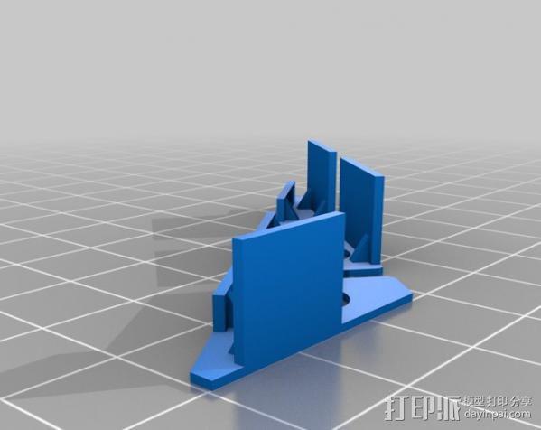 FPVRaptor航拍飞机FPV支架 3D模型  图9