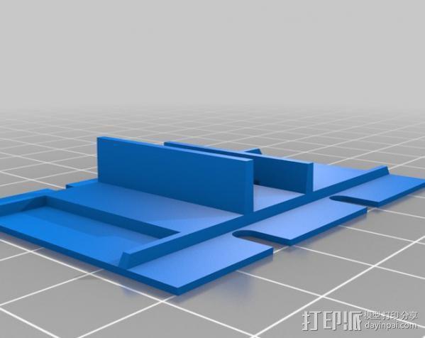 FPVRaptor航拍飞机FPV支架 3D模型  图11