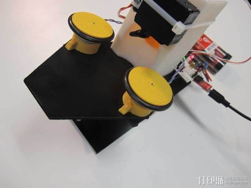 乒乓球发射器 3D模型  图1