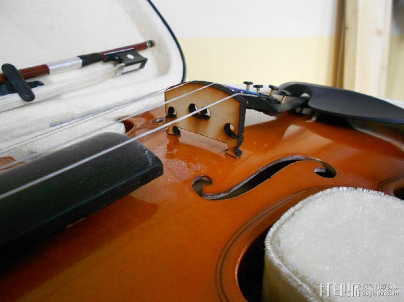 小提琴 琴桥 3D模型  图1