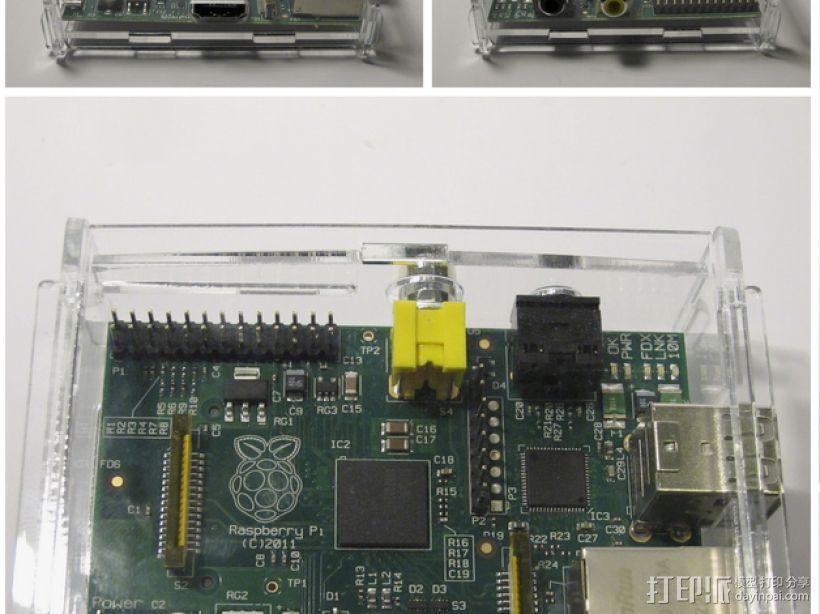 树莓派电路板外壳 3D模型  图1