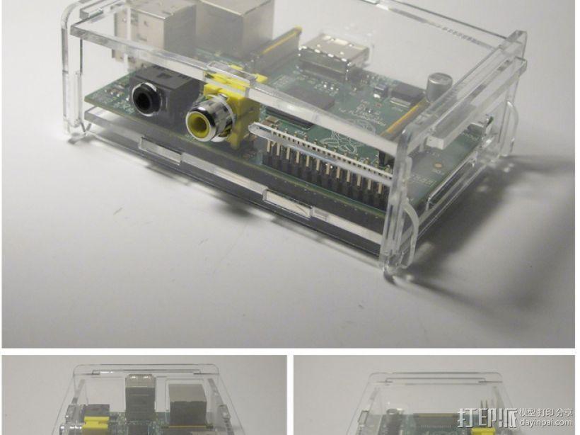 树莓派电路板外壳 3D模型  图3