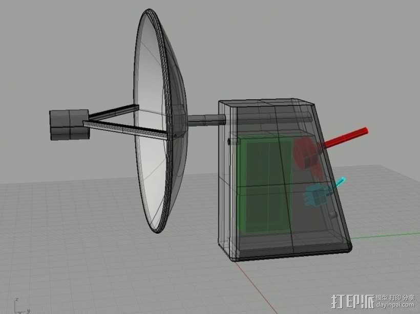 ParaMike抛物面传声器 3D模型  图3