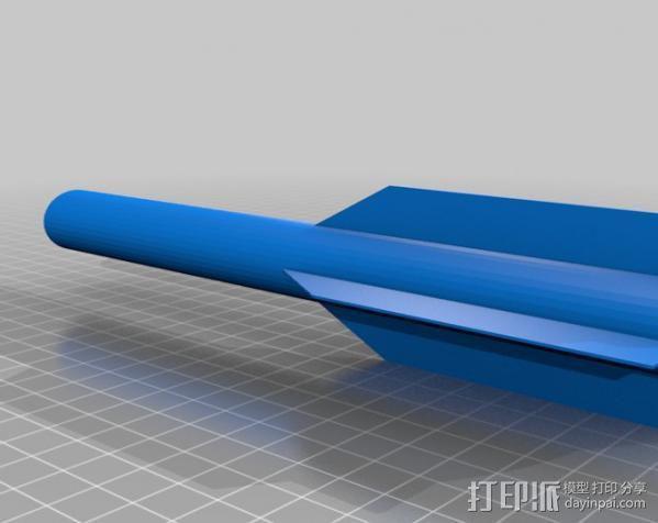 空气压缩火箭 3D模型  图1
