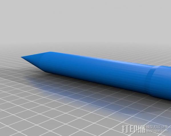 空气压缩火箭 3D模型  图3