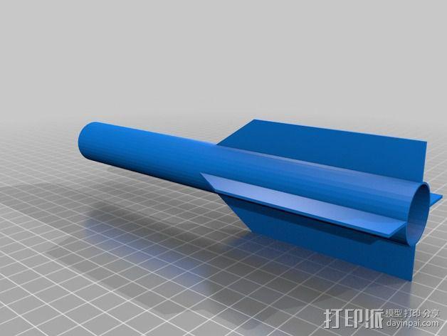 空气压缩火箭 3D模型  图2