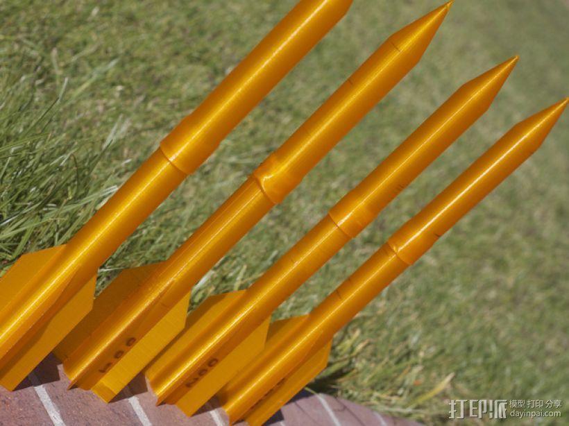 空气压缩火箭 3D模型  图4