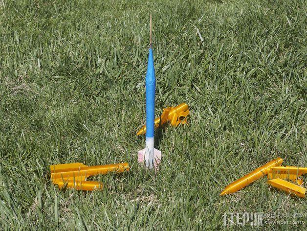 空气压缩火箭 3D模型  图13