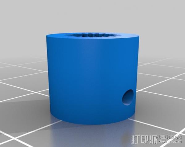 迷你伺服联接器  3D模型  图1