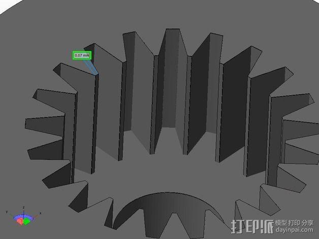 迷你伺服联接器  3D模型  图4