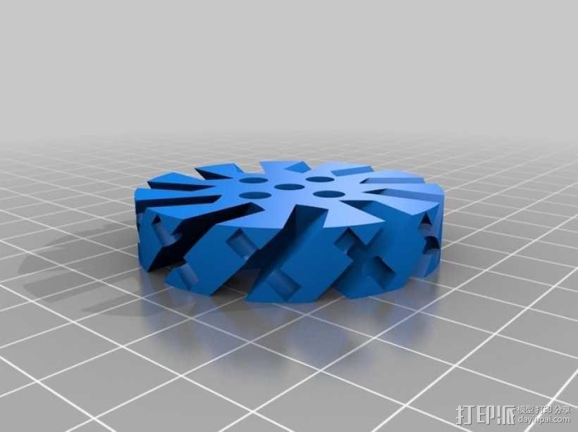 麦克纳姆轮 3D模型  图3