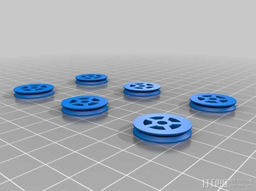 麦克纳姆轮 3D模型  图4