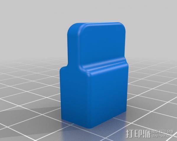 XT60连接器 帽盖 3D模型  图3