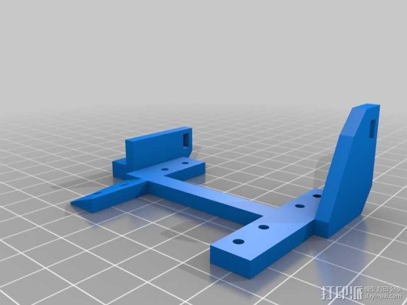 InMoov机器人手部 伺服支架 3D模型  图3