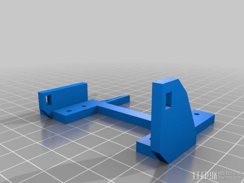 InMoov机器人手部 伺服支架 3D模型  图6