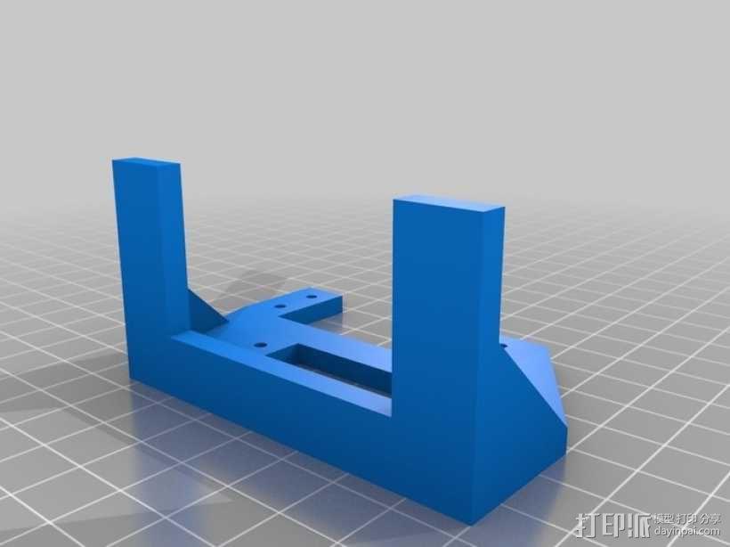 InMoov机器人手部 伺服支架 3D模型  图5