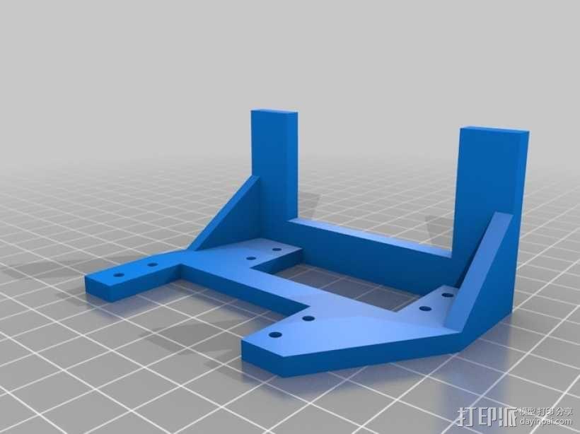InMoov机器人手部 伺服支架 3D模型  图4