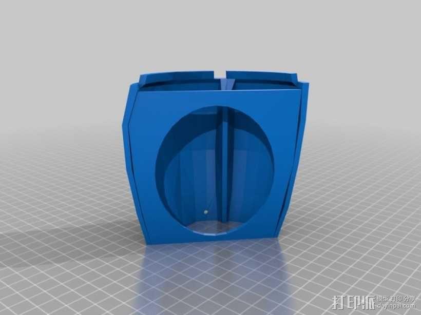 InMoov机器人手部 伺服支架 3D模型  图8