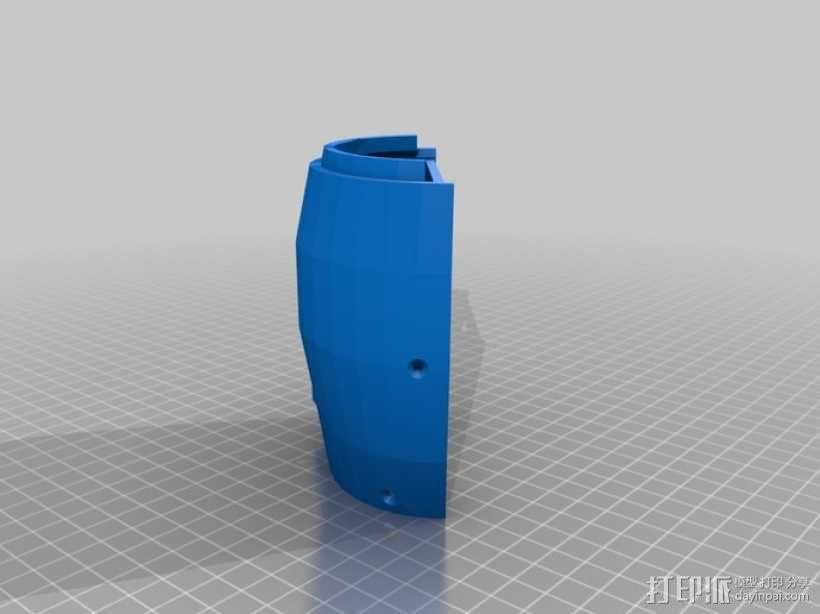 InMoov机器人手部 伺服支架 3D模型  图10