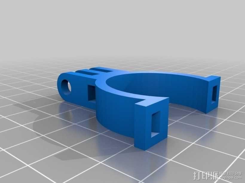 自行车 Gopro相机支架 3D模型  图1
