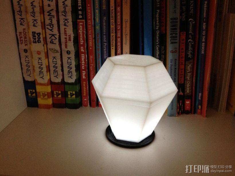 钻石形LED台灯 3D模型  图1