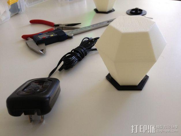 钻石形LED台灯 3D模型  图3