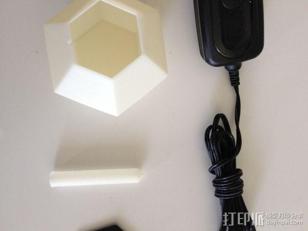 钻石形LED台灯 3D模型  图4