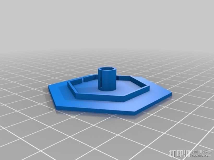 钻石形LED台灯 3D模型  图8