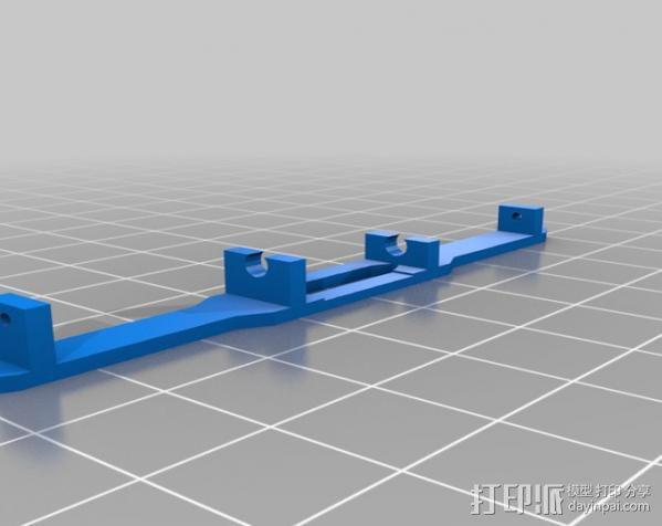 spektrum ar7000接收机 天线支架 3D模型  图3