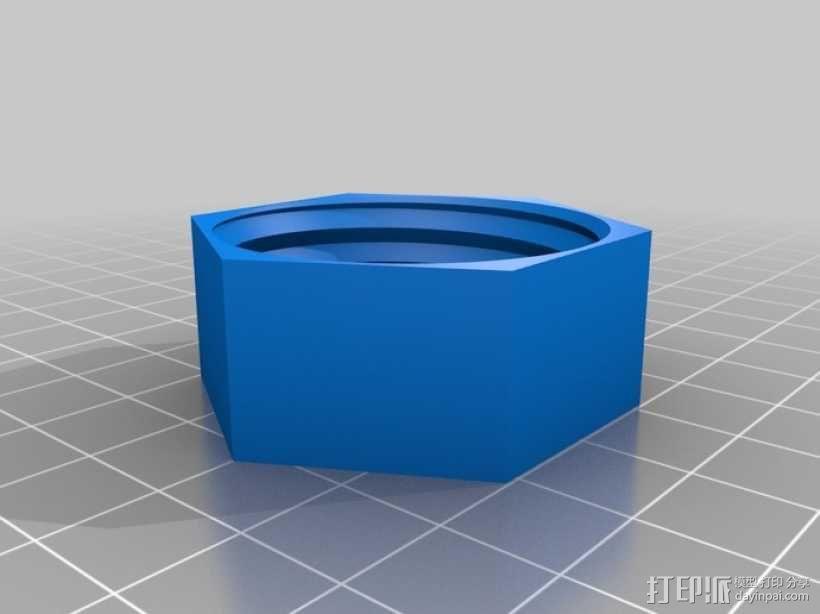 小号 号嘴保护壳 3D模型  图3