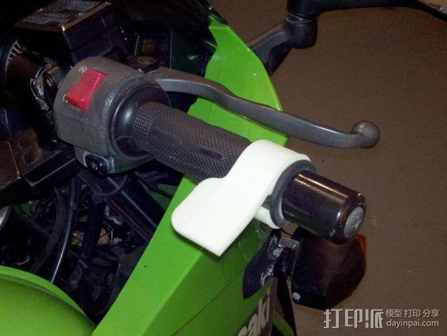 摩托车 腕托 3D模型  图2