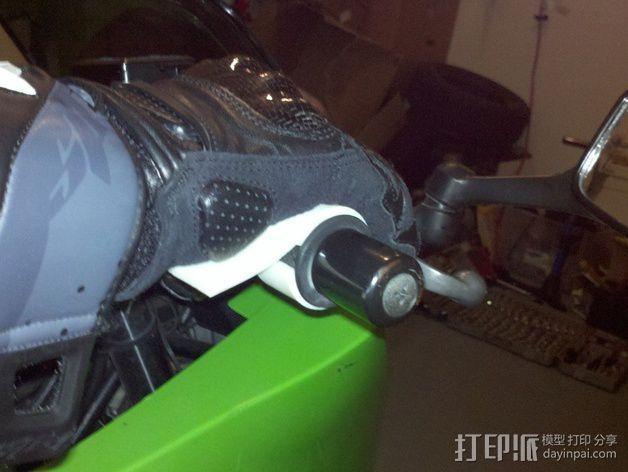 摩托车 腕托 3D模型  图4